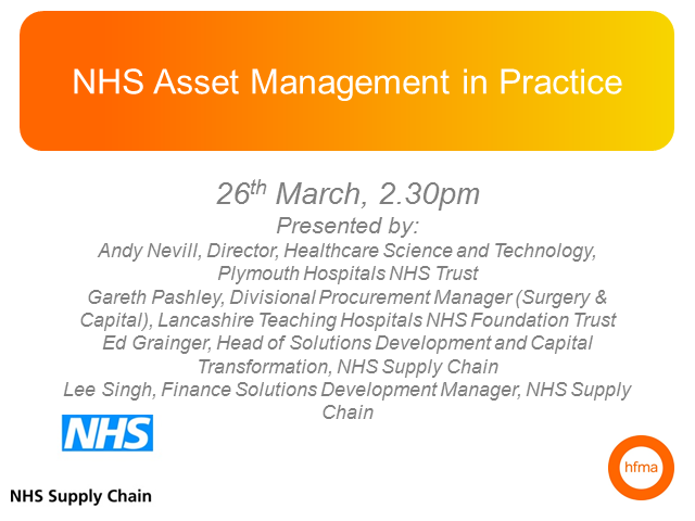 NHS Asset Management in Practice