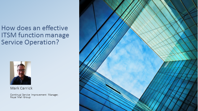 How Does an Effective ITSM Function Manage Service Operation