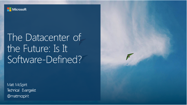 The Data Center of the Future: Is It Software-Defined?