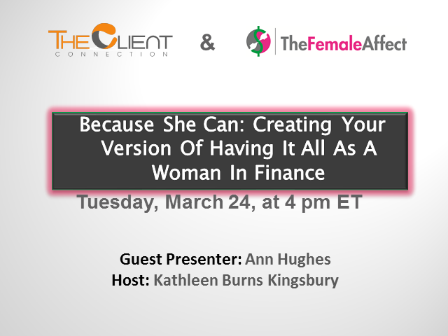 Because She Can: Creating Your Version Of Having It All As A Woman In Finance