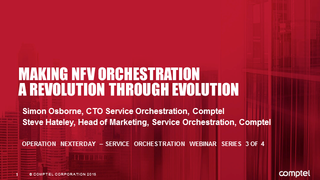 Making NFV Orchestration a Revolution through Evolution