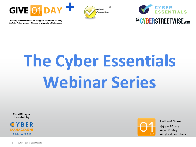 Cyber Essentials for Charities - from Give01Day