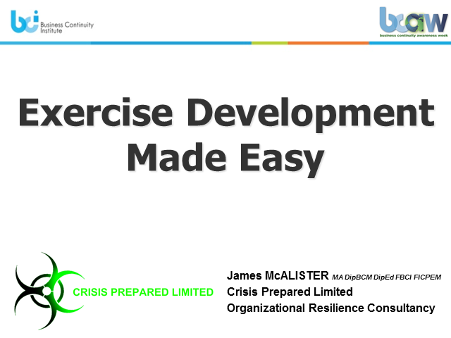 BCI webinar: Exercise development made easy