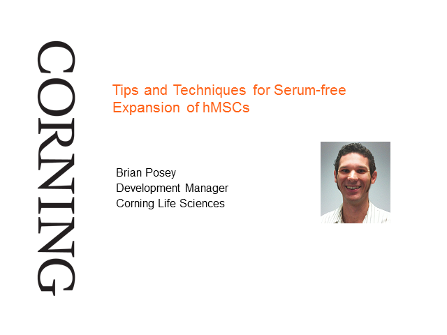 Tips and Techniques for Serum-free Expansion of hMSCs