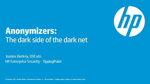 The Dark Side of Anonymizers: Protect Your Network from the Unknown
