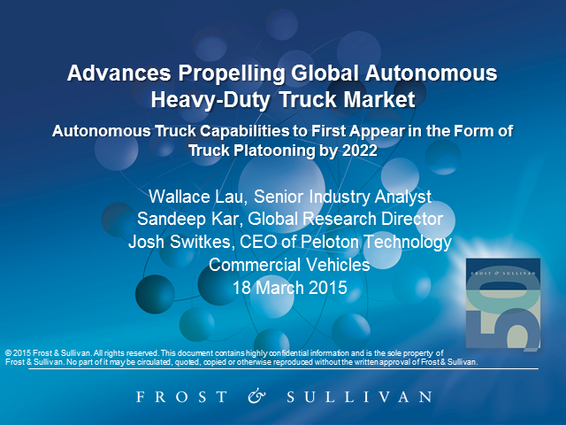 Advances Propelling Global Autonomous Heavy-Duty Truck Market