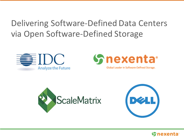 Delivering the Sofware-Defined Data Center via Open Software-Defined Storage