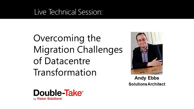 Tech Session: Overcoming the Migration Challenges of Data Center Transformation