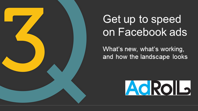 Get up to speed with Facebook ads