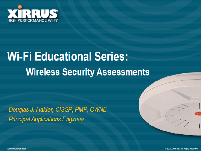 Wireless Security and Privacy