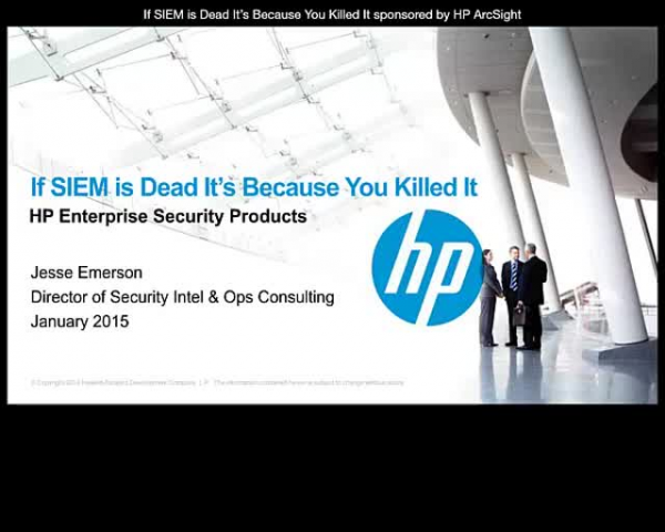 If SIEM is Dead It's Because You Killed It