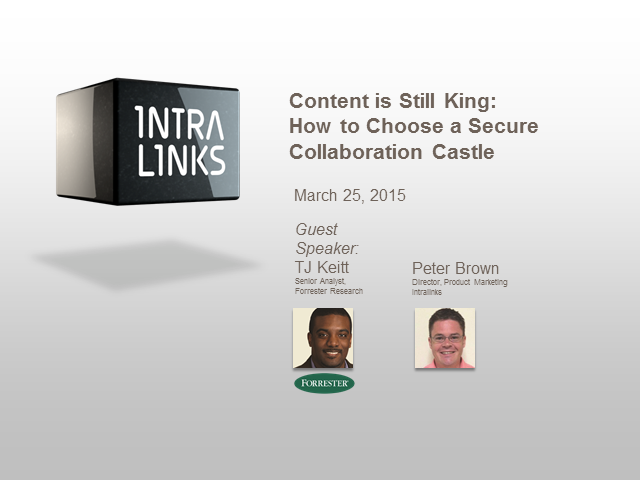 Content is Still King – How to Choose a Secure Collaboration Castle