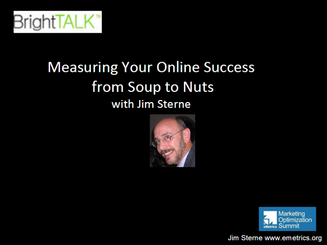 Measuring Your Online Success from Soup to Nuts