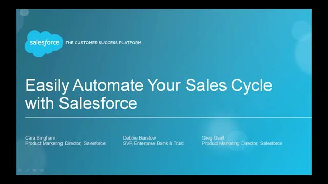 Easily Automate Your Sales Cycle with Salesforce