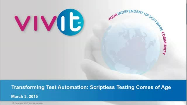 Transforming Test Automation: Scriptless Testing Comes of Age