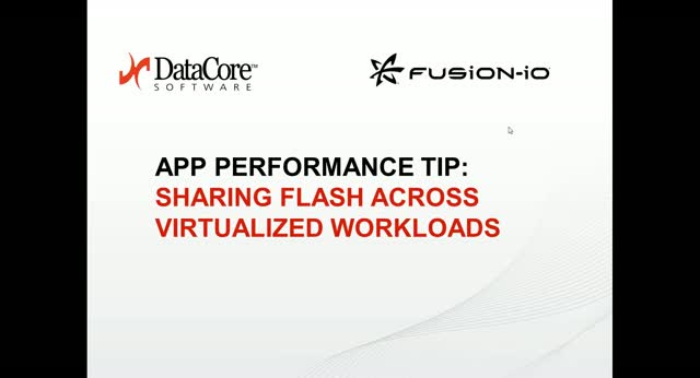 App Performance Tip: Sharing Flash Across Virtualized Workloads