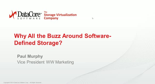 Why All the Buzz Around Software-Defined Storage?