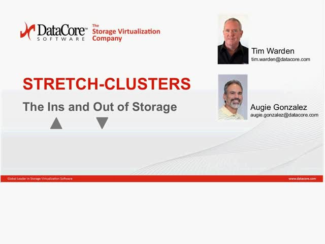 Stretch-Clusters: The Ins and Out of Storage