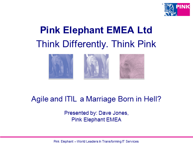 Agile and ITIL a Marriage Born in Hell?