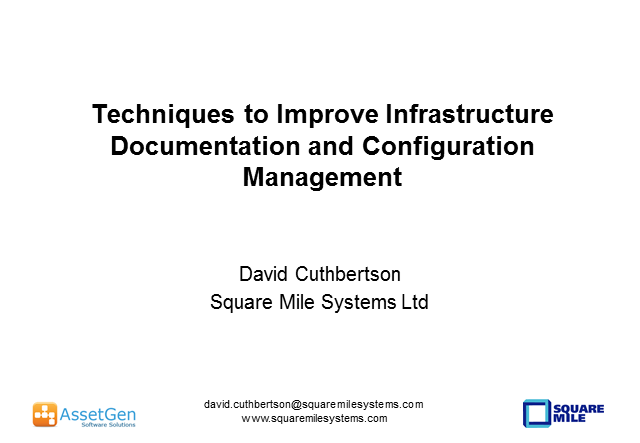 Techniques to Improve Infrastructure Documentation and Configuration Management