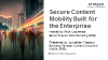 Secure Content Mobility Built for the Enterprise