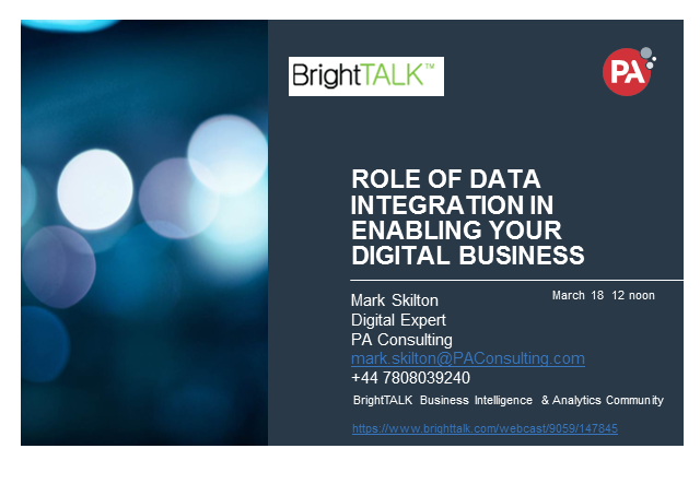 Role of Data Integration in Enabling your Digital Business