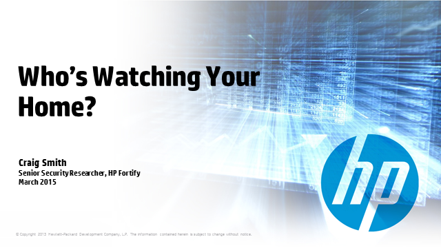 Who's watching your home? Internet of Things Security Study