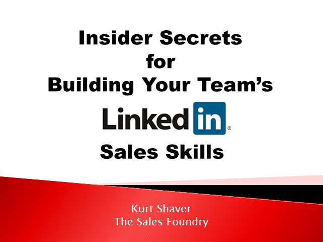 Developing Your Team's Social Selling Skills