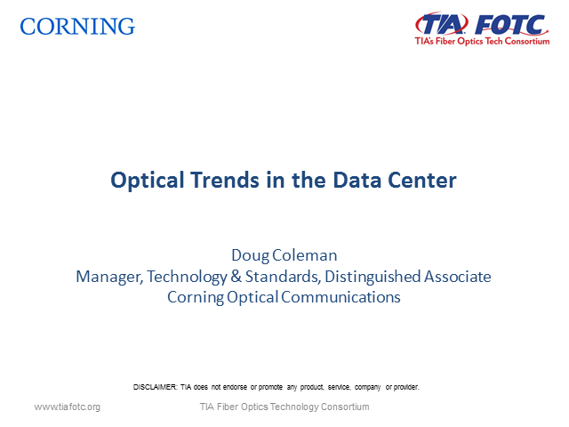 Optical Trends in the Data Center