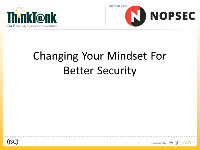 Changing Your Mindset for Better Security