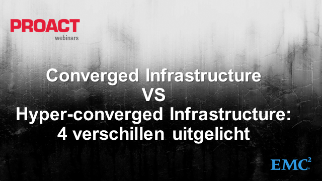 Converged Infrastructure vs Hyper-converged Infrastructure