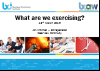 BCI webinar: What are we exercising?