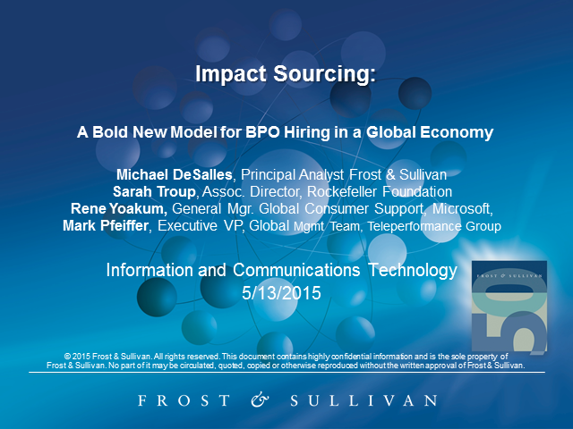 Impact Sourcing: A Bold New Model for BPO Hiring in a Global Economy