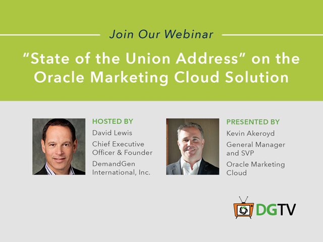 """State of the Union Address"" on the Oracle Marketing Cloud Solution"