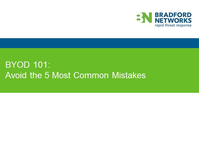 BYOD 101: Avoid the 5 Most Common Mistakes