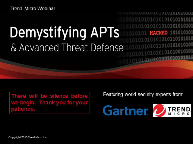 Demystifying APTs and Advanced Threat Defence