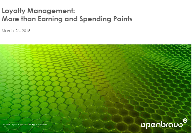 Loyalty Management: More than Earning and Spending Points