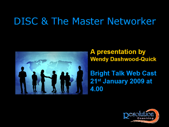 DISC And the Master Networker