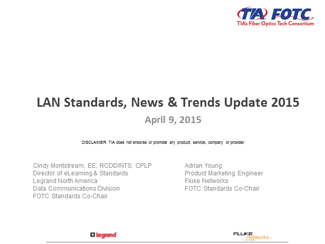 LAN Standards, News & Trends - 2015 Update