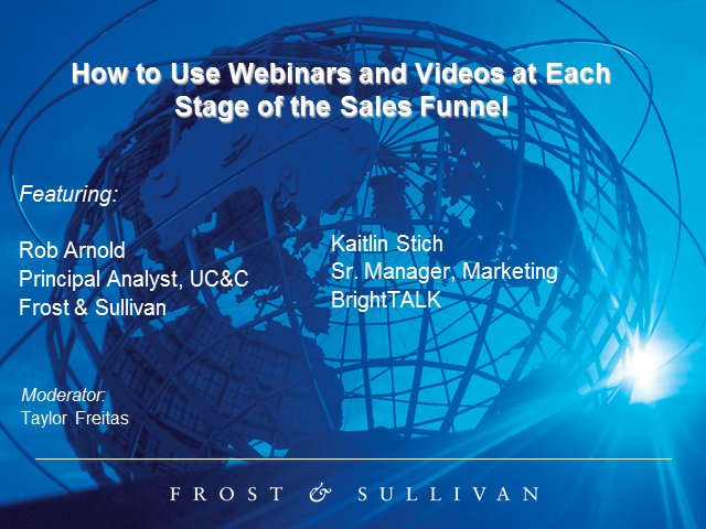 How to Use Webinars and Videos at Each Stage of the Sales Funnel