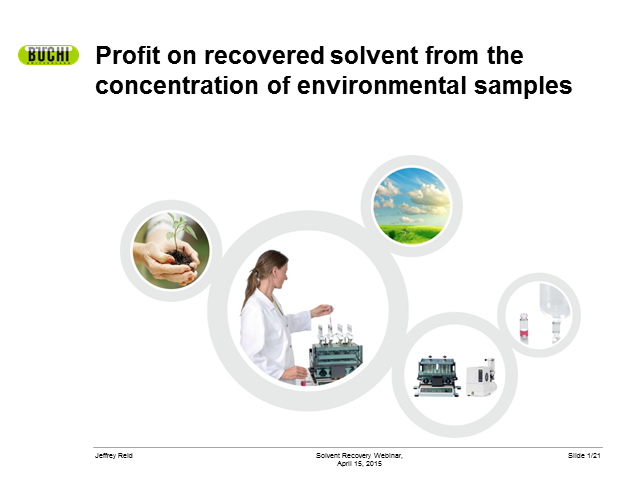 Profit on recovered solvent from concentrating environmental samples