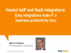 Hosted VoIP and SaaS integrations: Easy integrations make IT a productivity hero