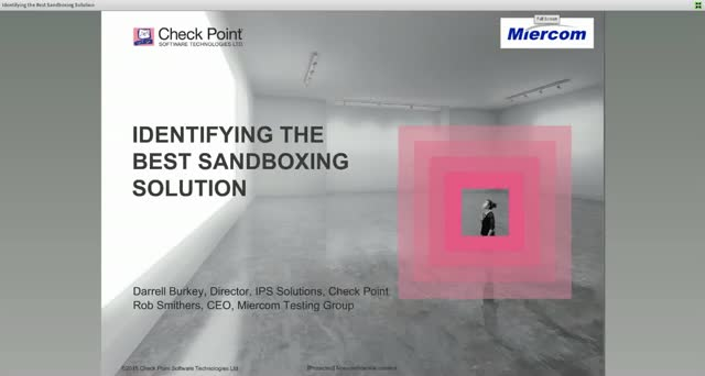 Identifying The Best Sandboxing Solution Featuring Miercom