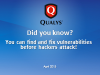 Did you know? You can find and fix vulnerabilities before hackers attack!