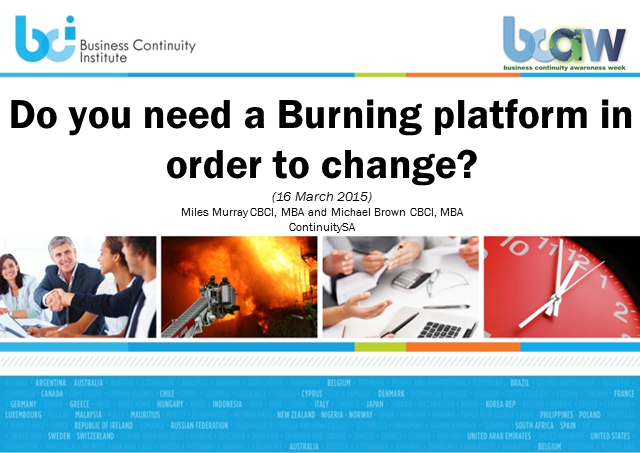BCI webinar: Burning platforms