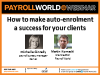 How to make auto-enrolment a success for your clients