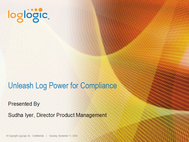 Unleash the power of logs to meet compliance objectives