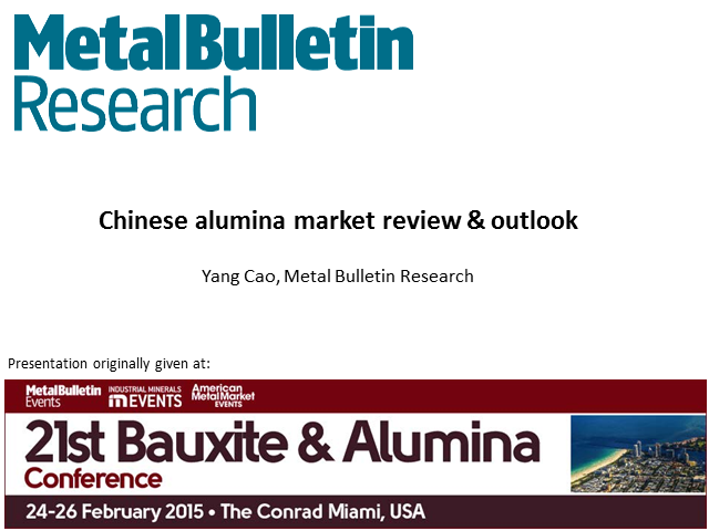 Chinese Alumina Market Review & Outlook