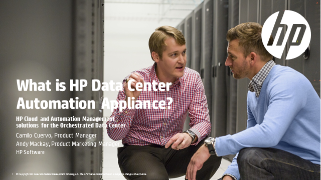 What is HP Data Center Automation Appliance?