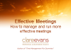 How to manage and run more effective meetings